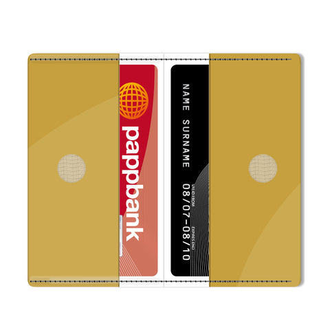 Gold Metallic Card Holder