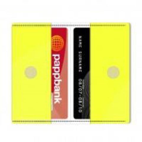 Neon Yellow Card Holder