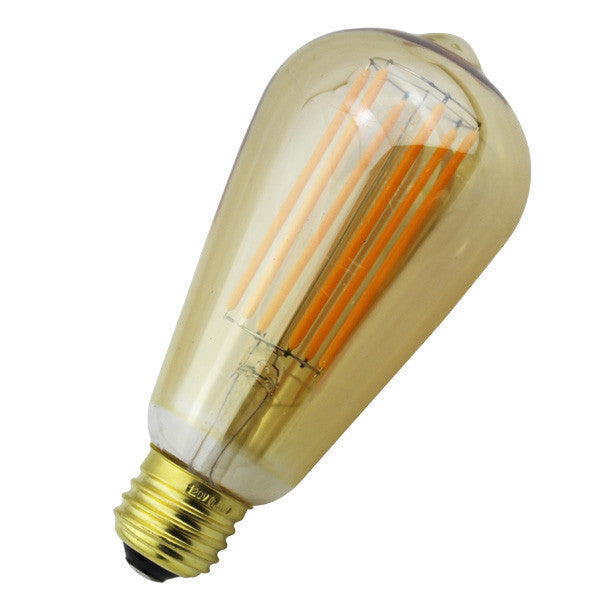 Long Golden Dimmable LED Bulb 6W/6 Filaments