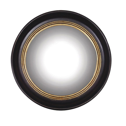 Black and Gold Round Ship's Mirror
