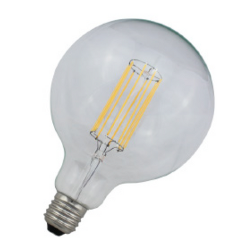 Ex Large Clear Globe LED Dimmable Bulb 8W/8 Filaments