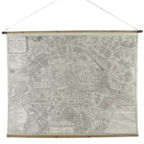 Paris Map Wall Hanging