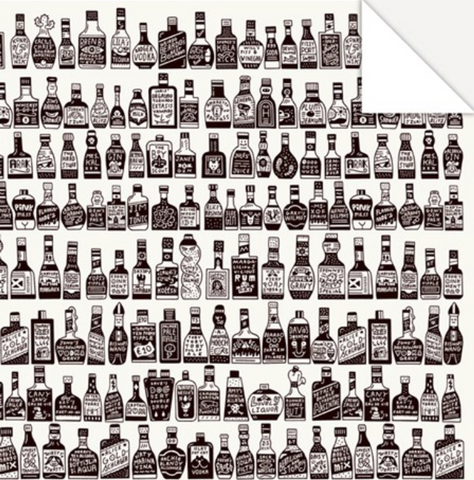 Bottles Wrapping Paper
