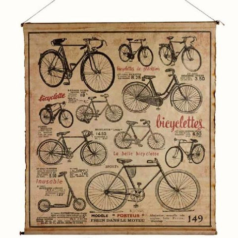 Bicyclette Canvas Wall Hanging