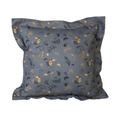 Cushion With Butterflies, Black/Gold  Dimensions 45 x 45 cm