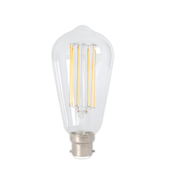 Bayonet B22 Filament LED Rustic Shape Bulb Clear (Dimmable)