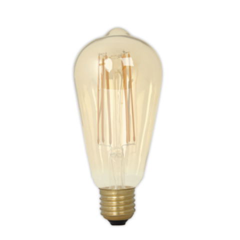 Filament E27 LED Rustic Shape Bulb Gold (Dimmable)