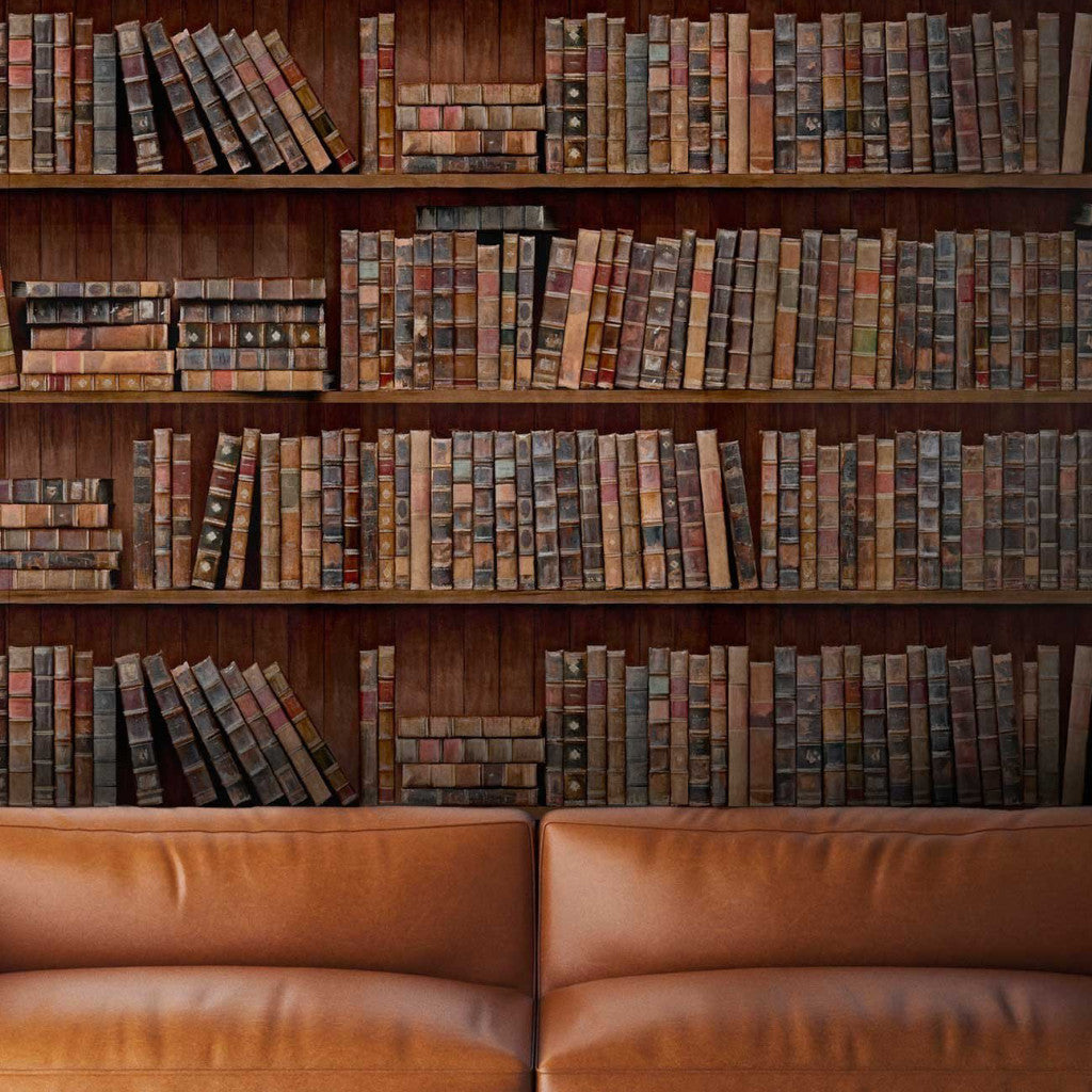 Vintage Bookshelves Wallpaper