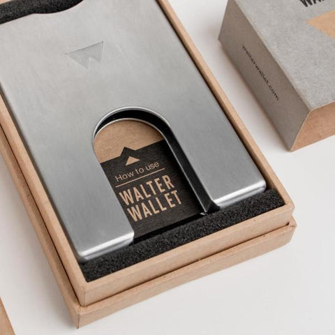 Walter Wallet Cards Holder Aluminium