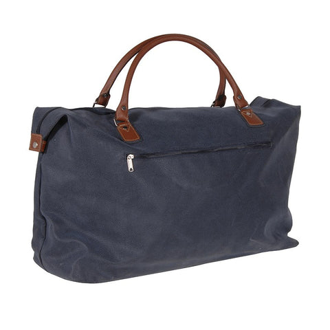 Large Blue & Tan Overnight Bag