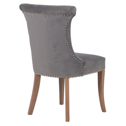 French Grey Upholstered Dining Chair