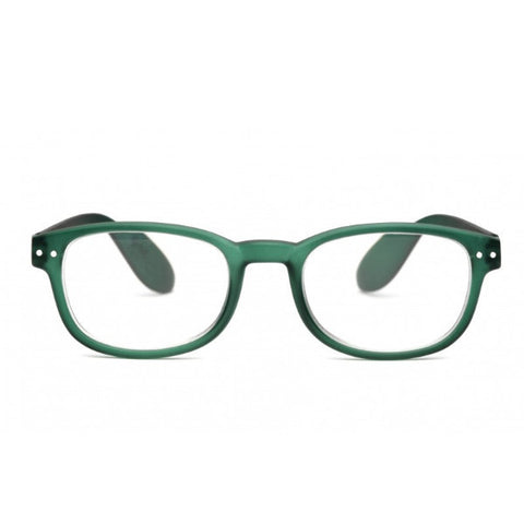 Izipizi #B Reading Glasses(Spectacles)Green Crystal Soft