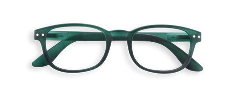 Izipizi #B Reading Glasses Green Crystal Soft