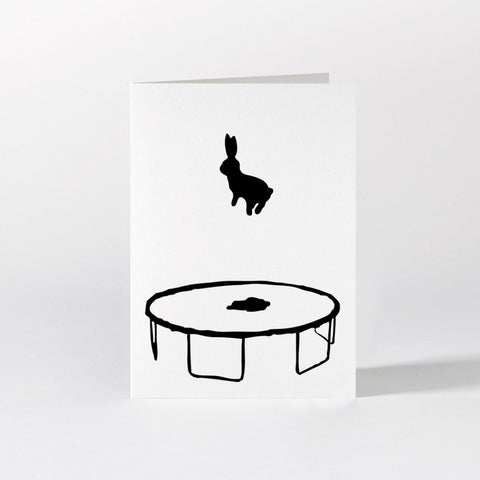 Bouncing Rabbit Card Mint Publishing