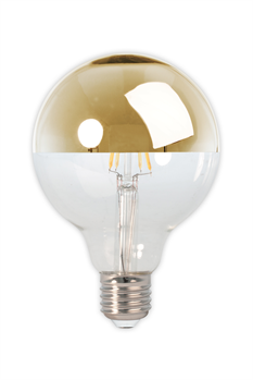 Filament E27 LED Mirror Top Globe Bulb Gold(Dimmable)