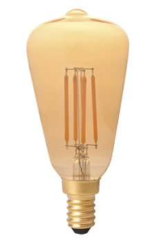 Filament E14 LED Rustic Shape Warm Bulb Gold (Dimmable)