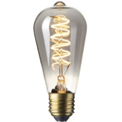Filament E27 LED Titanium Rustic Shape Bulb (Dimmable)