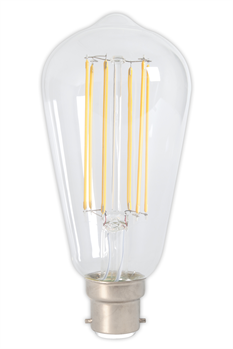 Bayonet Filament LED Rustic Shape Bulb Clear (Dimmable)