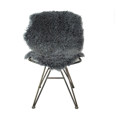 Curly Sheepskin Rug Light Grey Large