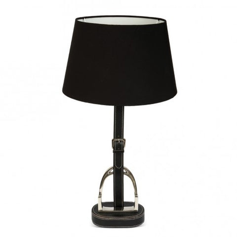 Stirrup Lamp with Black leather