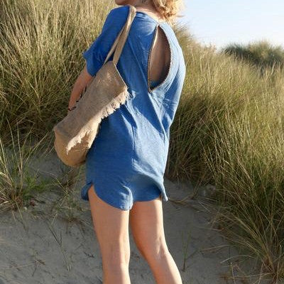 Ibiza Beach T-Shirt Dress Turquoise