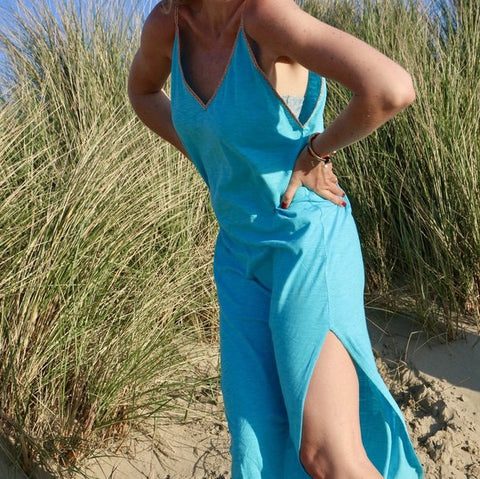 Ibiza Beach Long Dress Turquoise