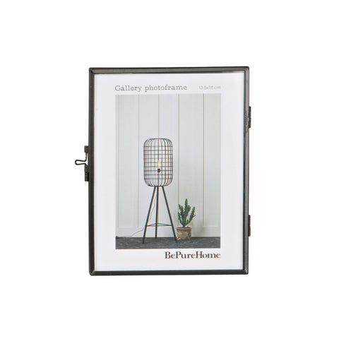 Black Gallery Style Photo Frame Dimensions: H: 18cm, W: 14.70cm, D: 1.7cm