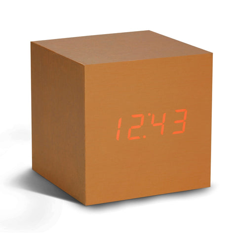 Cube Copper Click Clock With LED