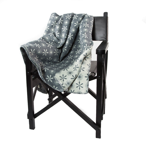 All Over Snowflakes Double Sided Deco Throw