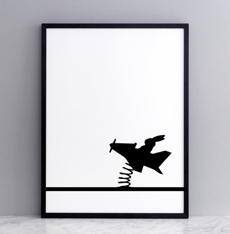 Flying Rabbit Print by Ham