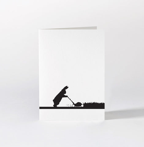 Mowing Rabbit Card by Ham
