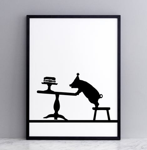 Partying Pig Print by Ham
