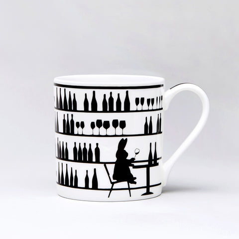 Wine Tasting Rabbit Mug by Ham