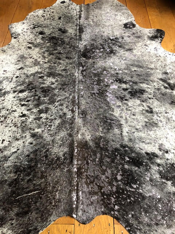 Cow Hide Metallic Silver