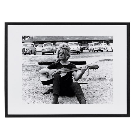 Bridget Bardot and Guitar Picture
