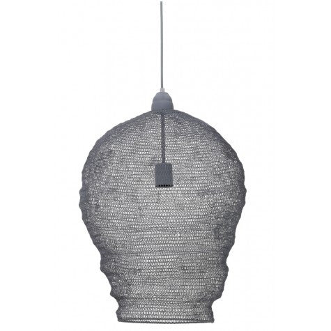 Nikki Grey Wire Pendant Lamp diam 45, height 60cm