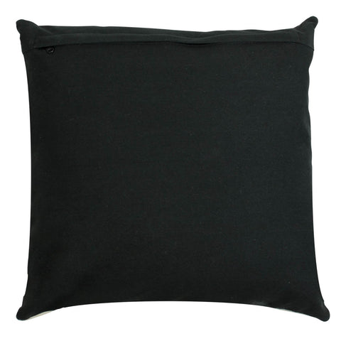 Black Cowhide Square Cushion