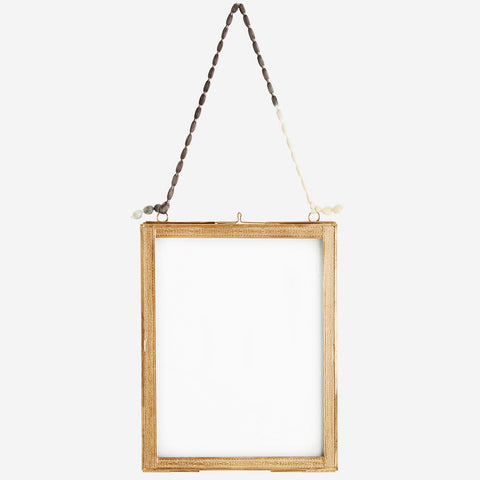Hanging Photo Frame with Brass Borders