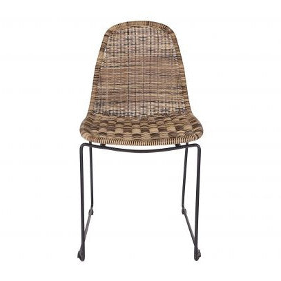 Wicker Dining Chair Natural
