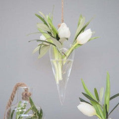 Glass Hanging Point Vase