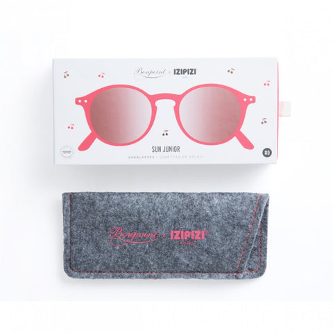 Izipizi Junior Sunglasses with Jelly Pink Frames Ages 3-10