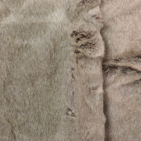 Grey Rabbit Faux Fur Throw Medium