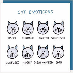 Cat Emoticons Greetings Card