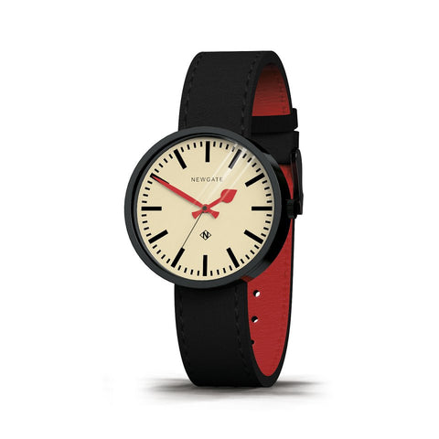 Newgate The Drummer Watch With Black Strap And Red Lining