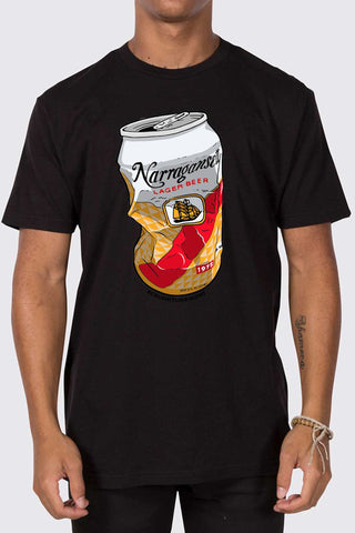 "Johnny Clam Cakes X 'Gansett ""Crush It"" T (Black)"