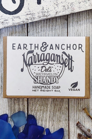 Earth and Anchor X 'Gansett Del's Watermelon Shandy Soap