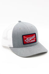 The Retro Trucker (Gray and White)