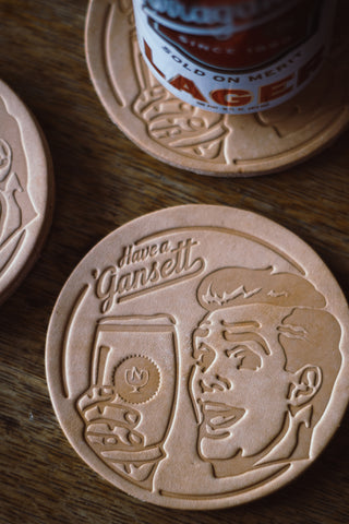 HARDENCO X 'Gansett Leather Coasters (No.4)