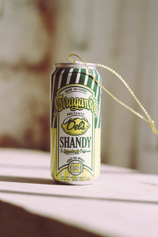 Del's Shandy Can Ornament