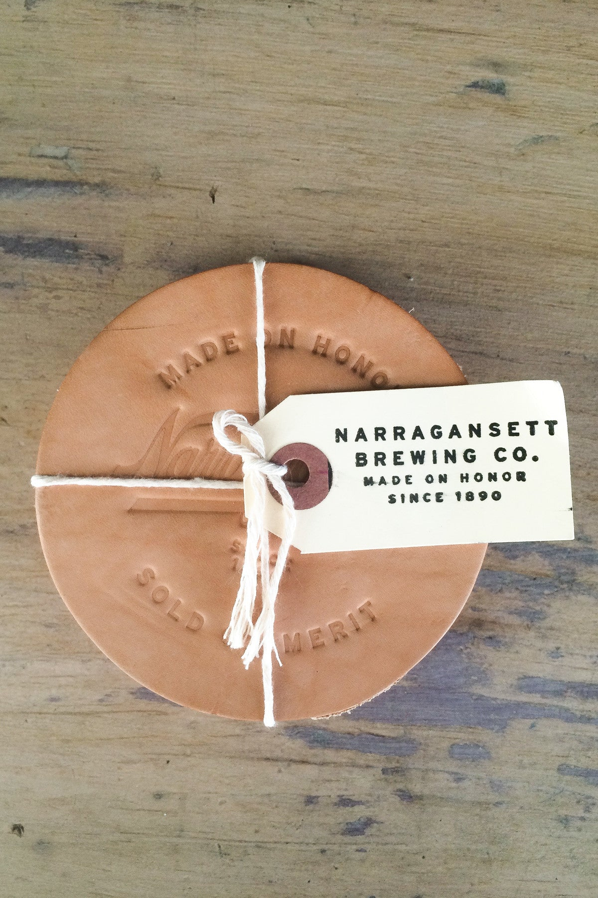 HARDENCO X 'Gansett Leather Coasters (No.1)